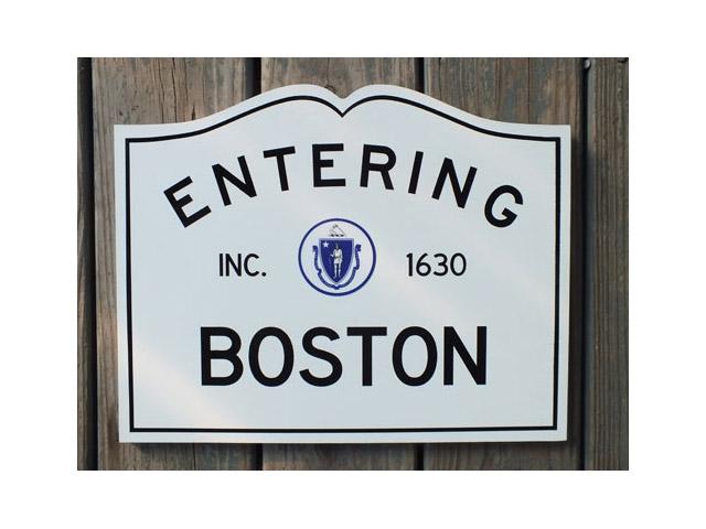 Entering Boston, MA