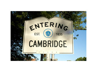Entering Cambridge, MA