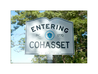 Entering Cohasset, MA