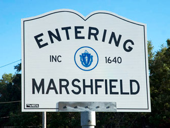 Entering Marshfield, MA